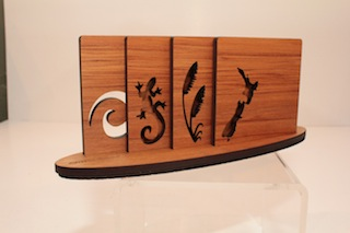 Ian Blackwell Rimu NZ Icon Coaters $45 - 90mm x 90mm each and base 230mm x 60mm.