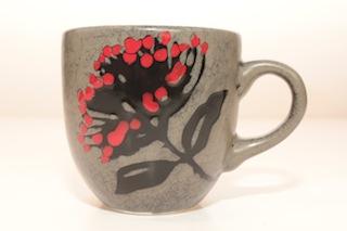 Pacific Pottery Pohutakawa Round Mug $35 90mm x 95mm