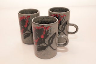 Pacific Pottery Pohutakawa Tall Mug $32 - 110mm x 70mm