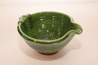 Tony Sly Pouring Bowl $39 - 180mm x 100mm, $78 - 240mm x 120mm Available in green, (shown) Blue, brown and yellow