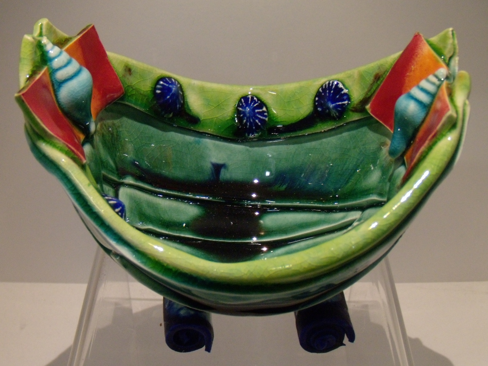 Small Green Rim Boat $120 Measures 140 mm w x 110 mm h