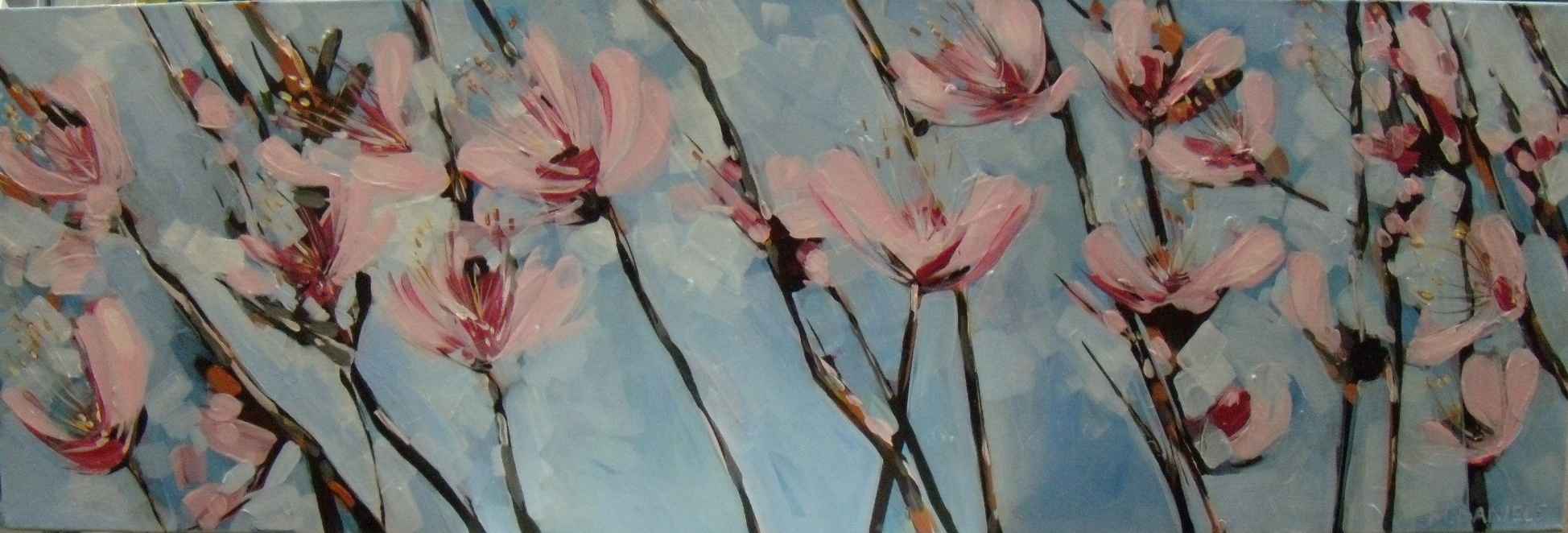 Nectarine Blossoms $950 Measures 920 mm w x 300 mm h