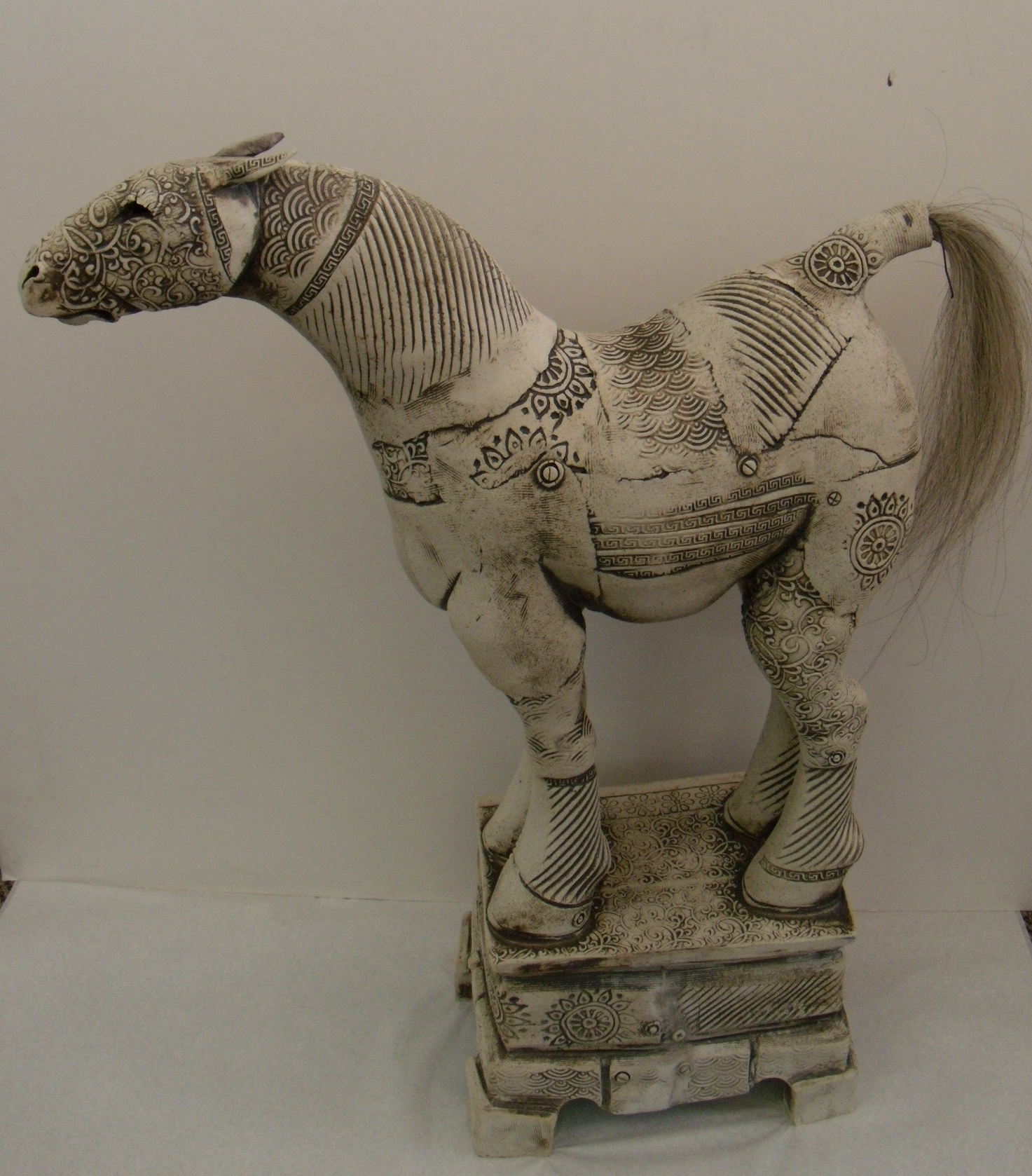 Horse on Stand (4) $550 Measures approx 460 mm w x 600 mm h