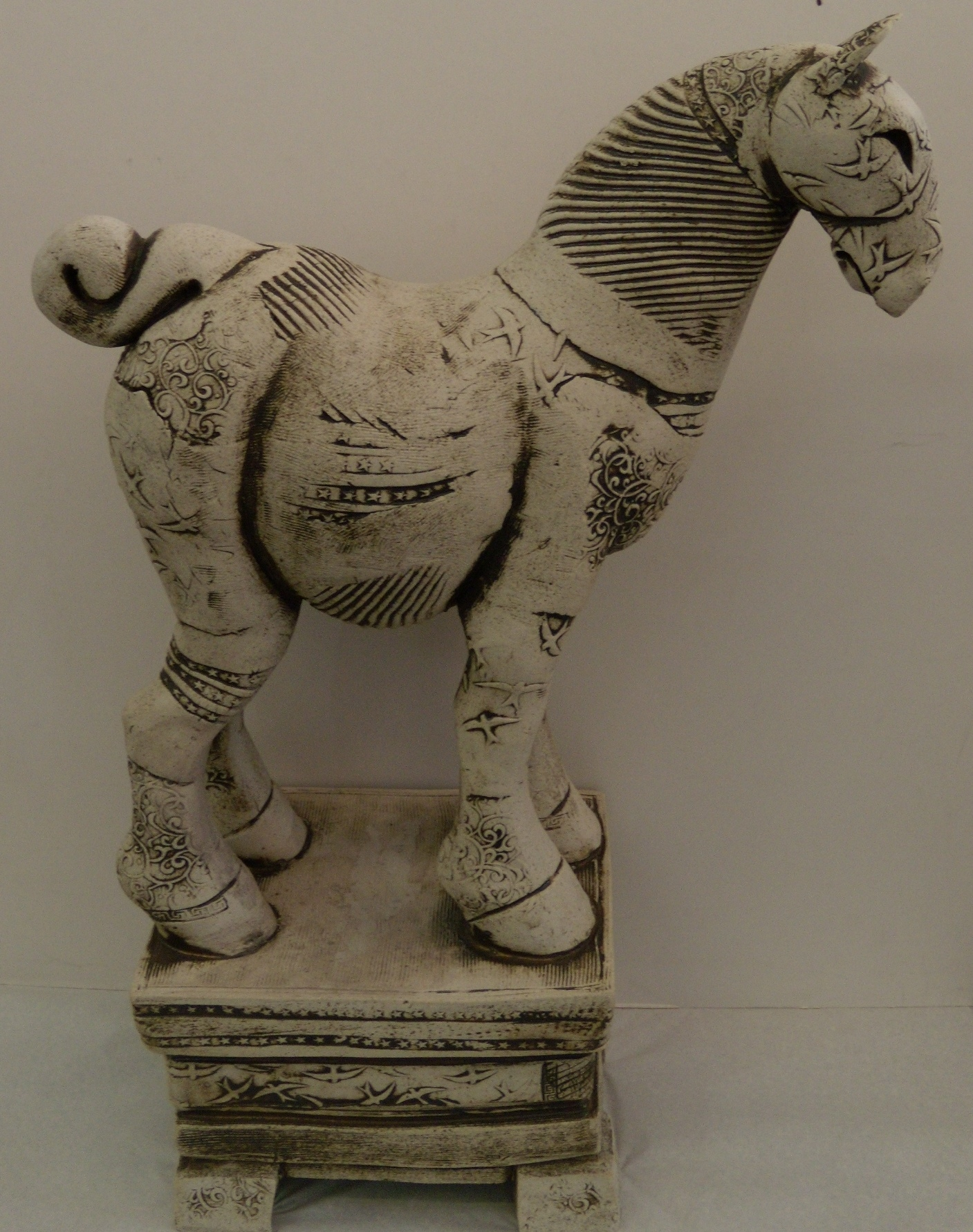 Horse on Stand (5) $550 Measures approx 410 mm w x 595 mm h