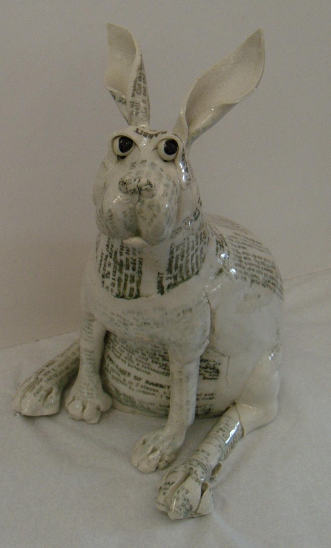 Medium Printed Rabbit $260 Measures approx 300 mm w x 330 mm h