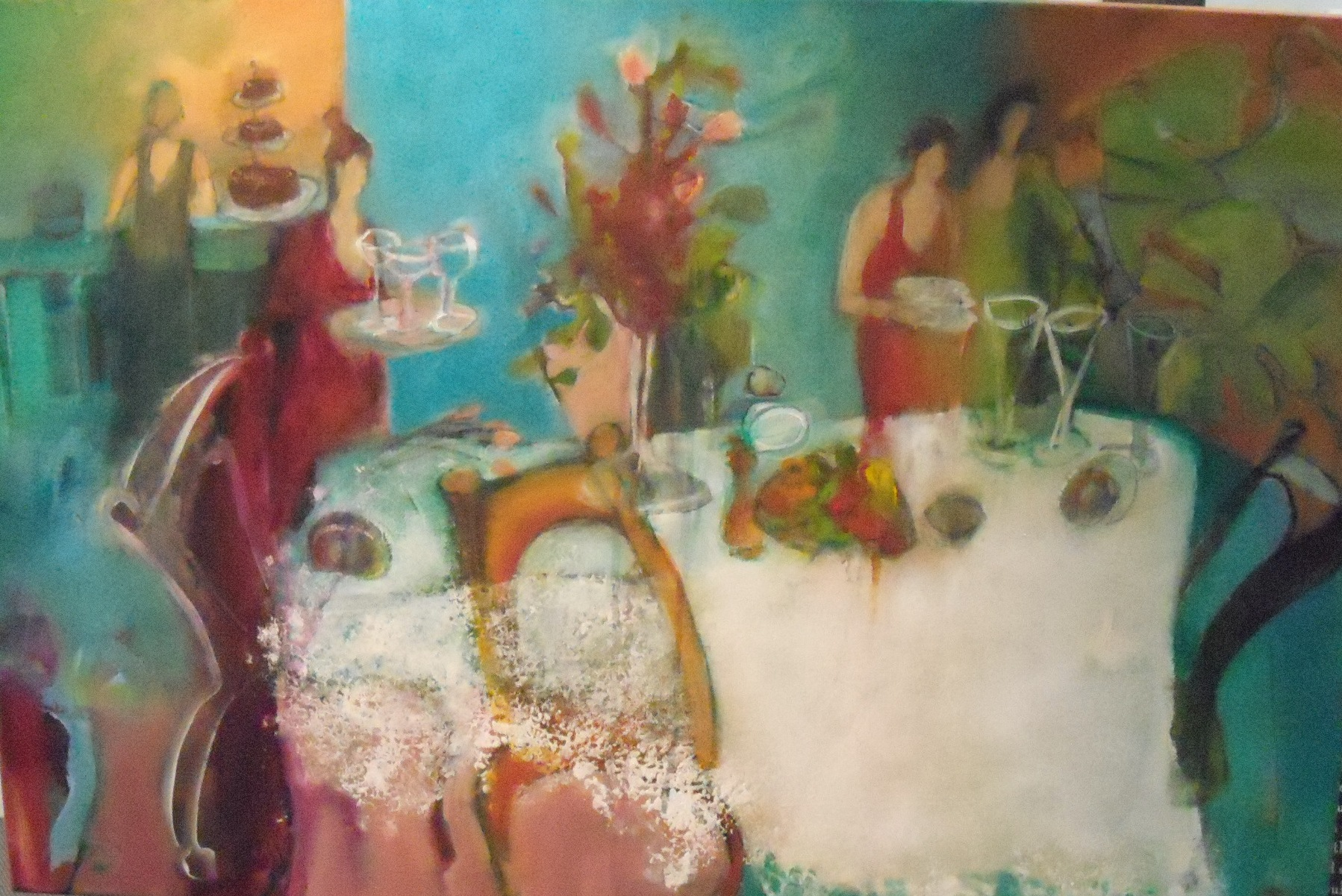 Dinner Party $850 Measures 910 mm w x 610 mm h