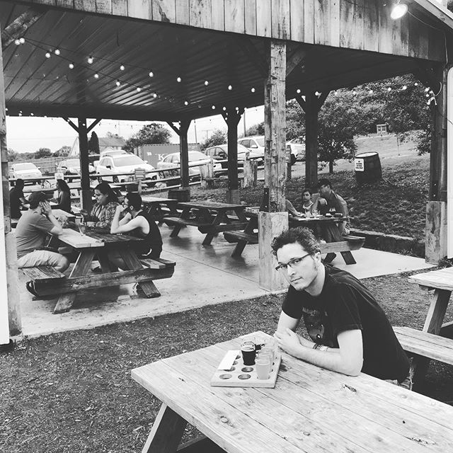 Wrapping up our @nelsonvillefest weekend at @littlefishbrewing Man, I love this part of the state, my heart just swells with memories. Love to my fellow Bobcats