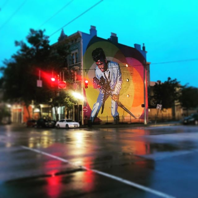 I have a million photos of this mural but I love it so #jamesbrown #thisisotr
