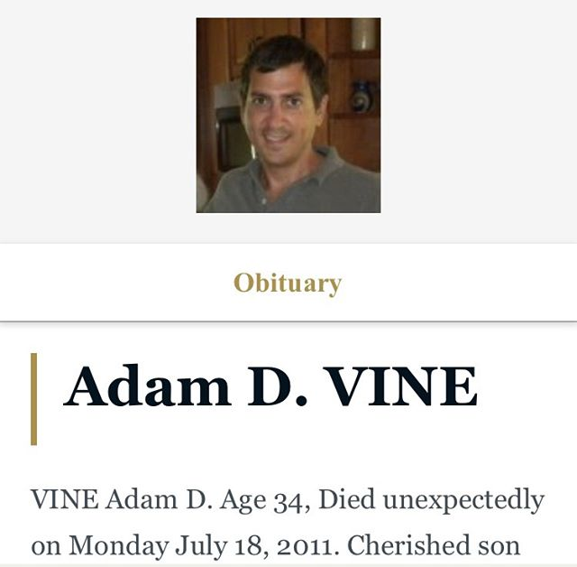 So many memories of my friend Adam. All I can promise is that I'll never forget you.