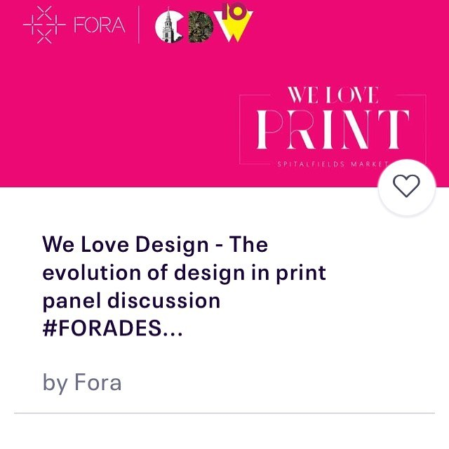 Come along to our next podcast recording at Fora Dallington street - We Love Design- the evolution of magazine design  https://www.eventbrite.co.uk/e/we-love-design-the-evolution-of-design-in-print-panel-discussion-foradesign-tickets-59824884841 #clerkenwelldesignweek #clerkenwelldesignweek2019 #fora_space #couriermagazine #eyeondesignmagazine #yesandnomagazine #jeremykunze #magcultureshop #magculture #oldspitalfieldsmarket