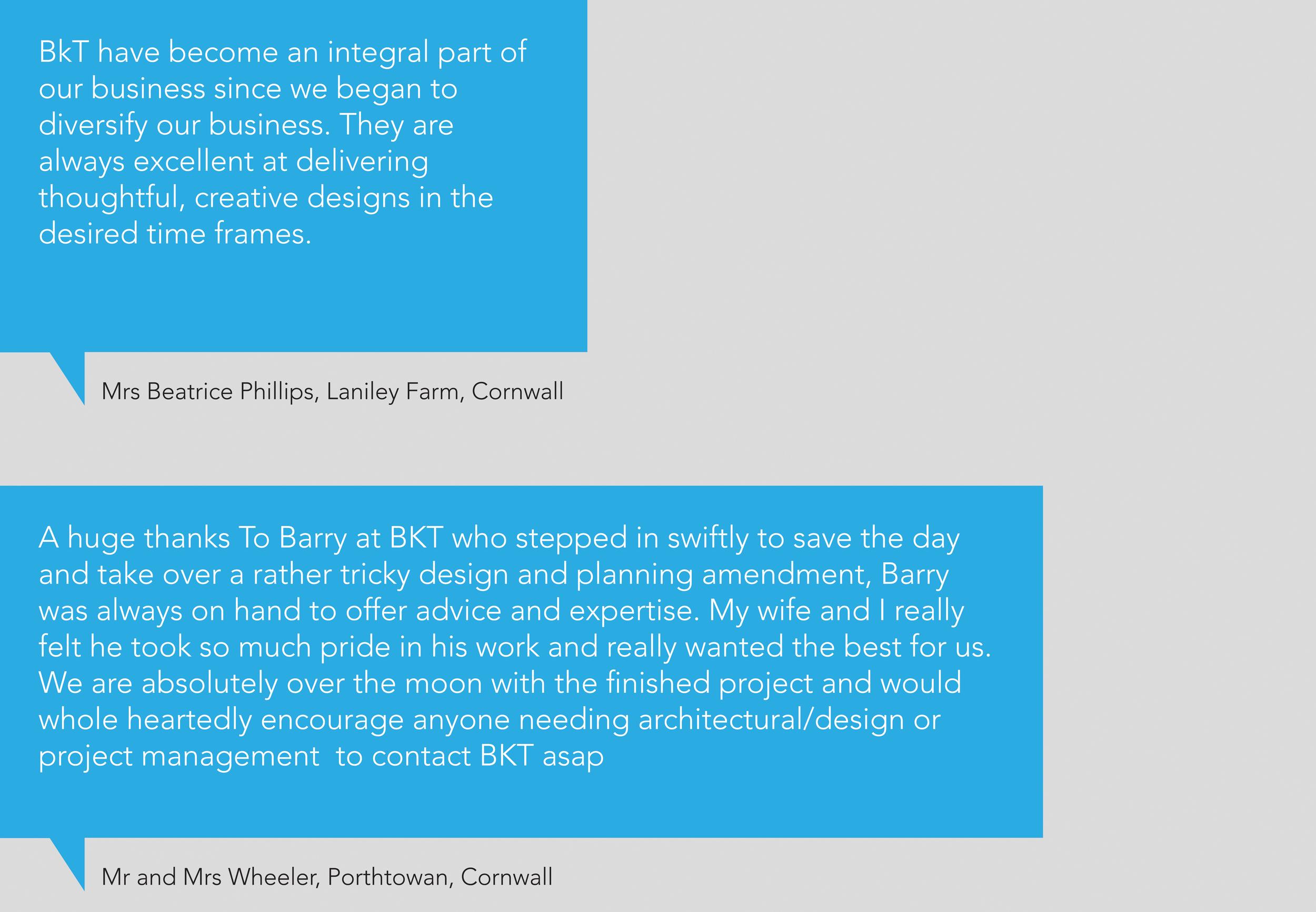 Cornwall Client Testimonial
