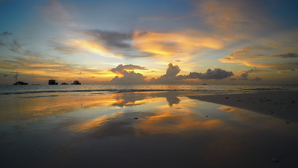 Stunning Maldives sunset.