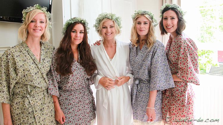Gemma and her Bridemaids