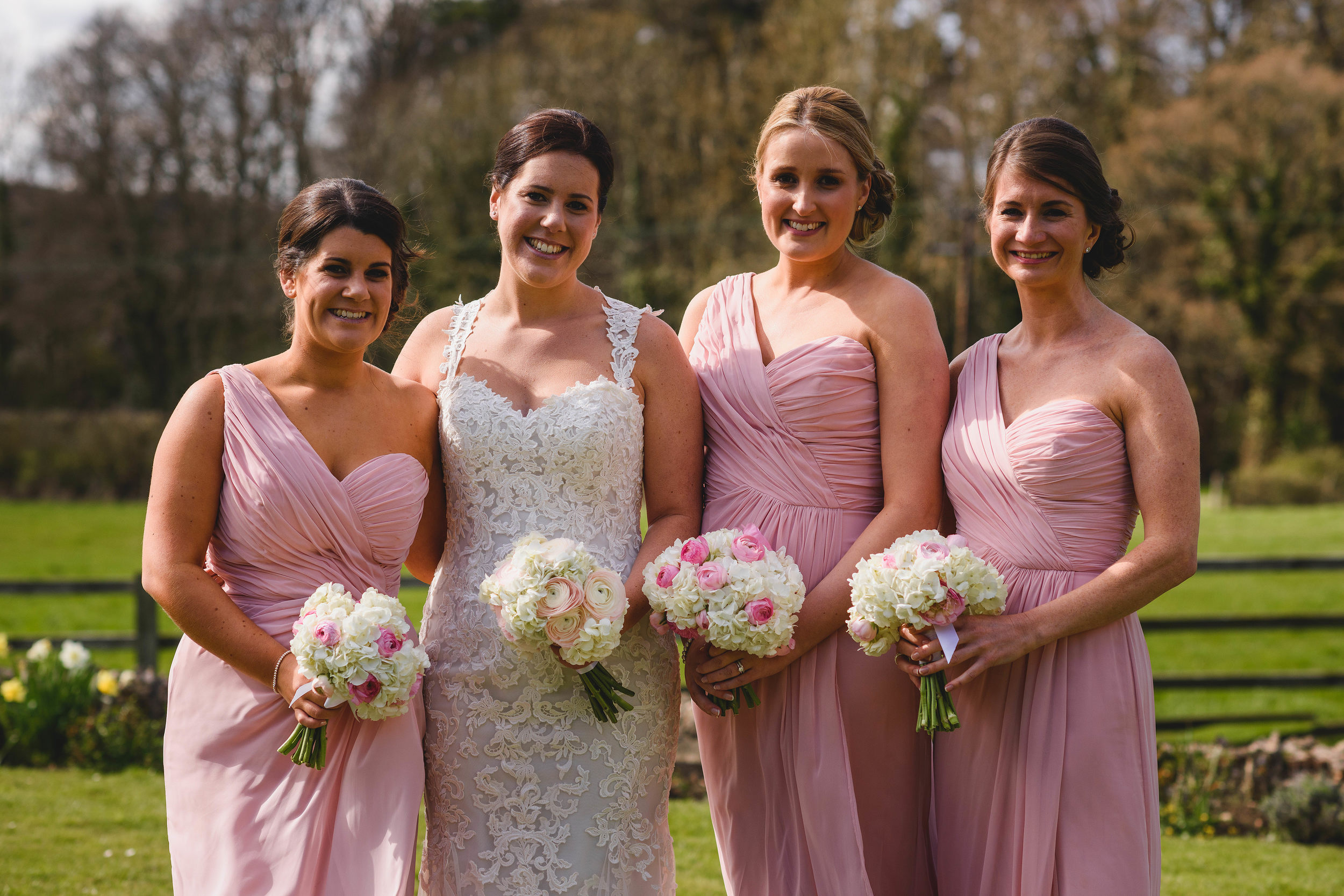 Zoe and her bridesmaids - April 2015