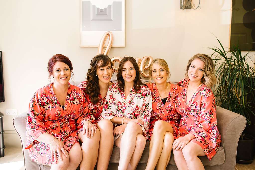 Celine and her bridesmaids
