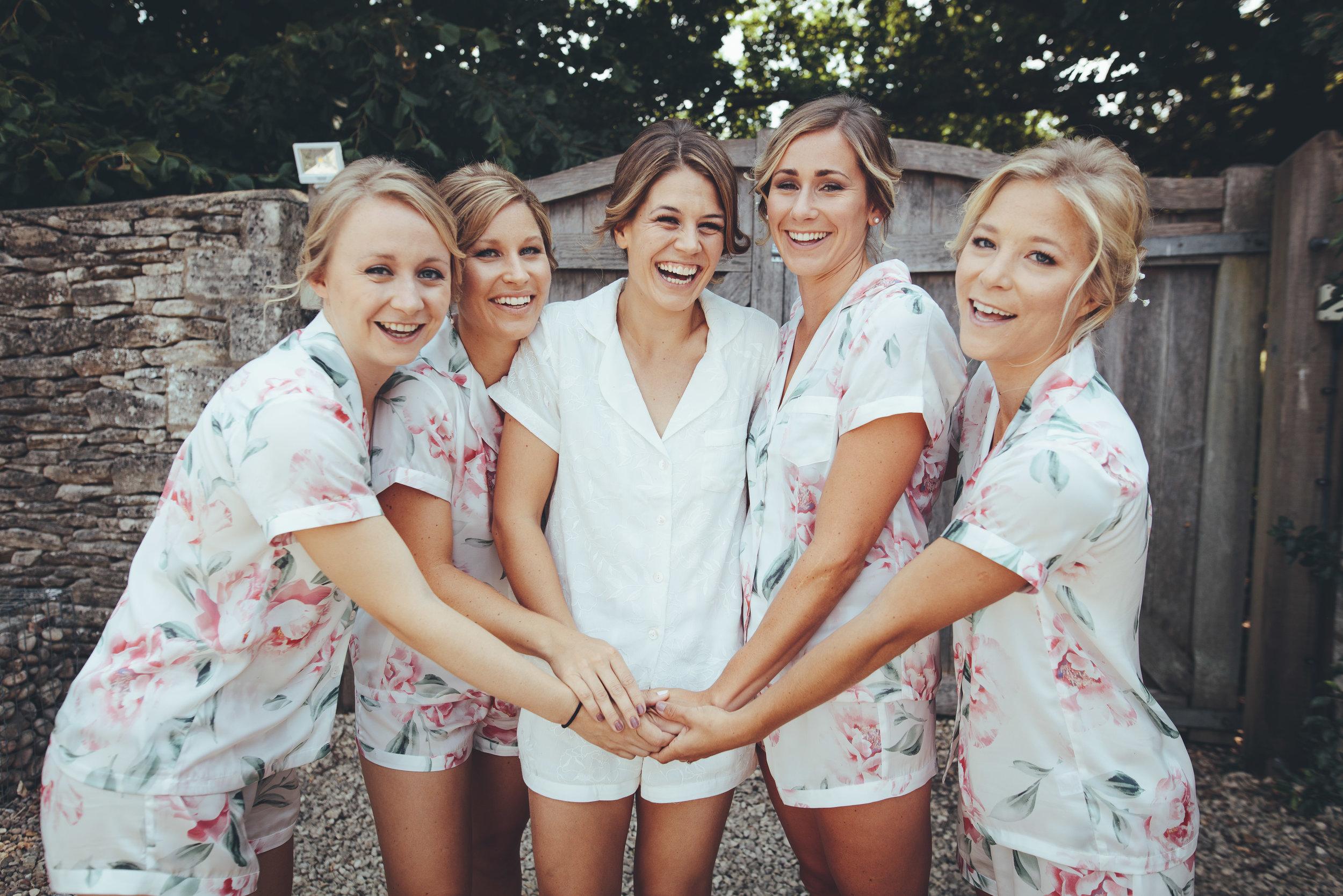 Hannah and her bridesmaids