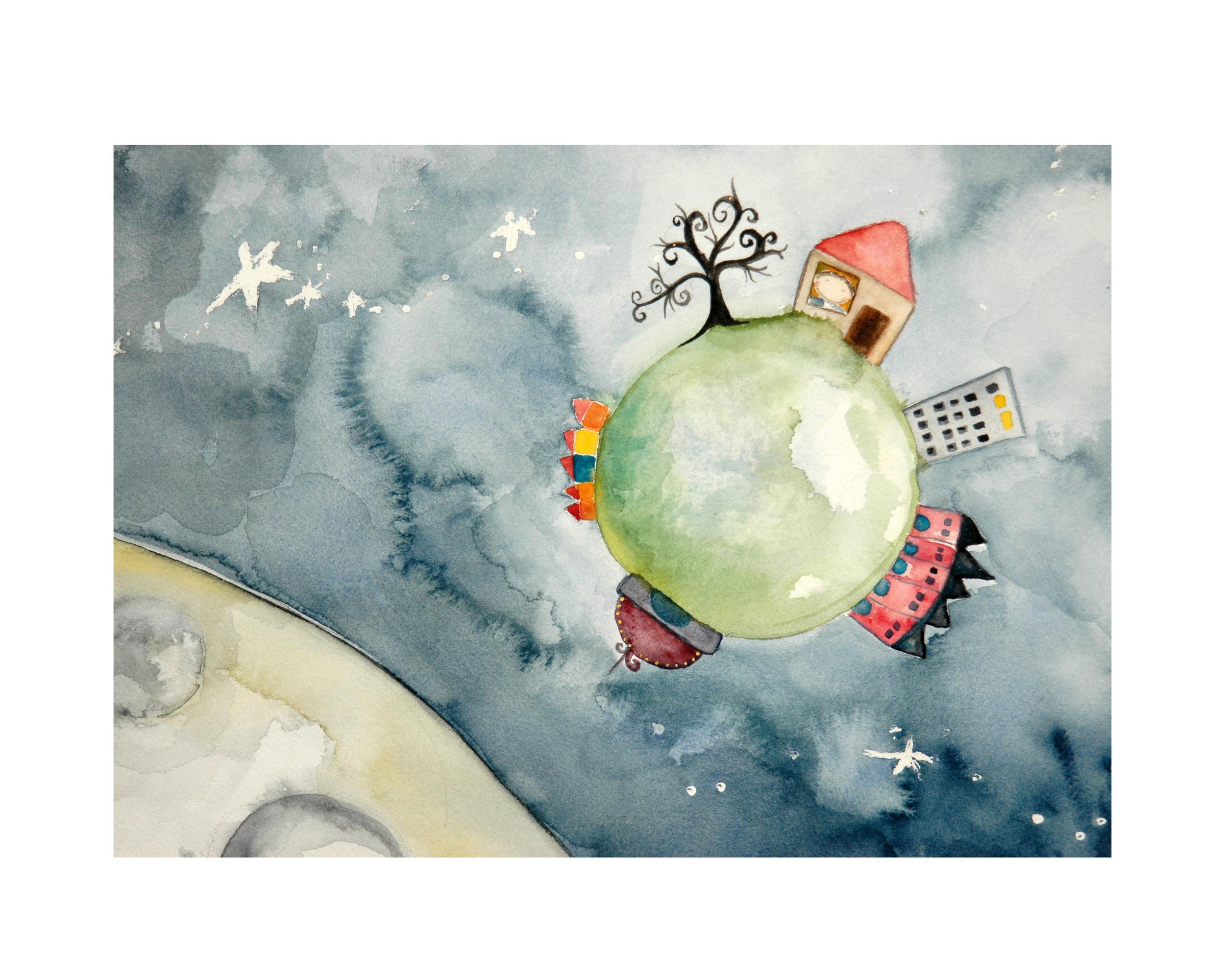 The Moonvies,  Watercolor, 2010