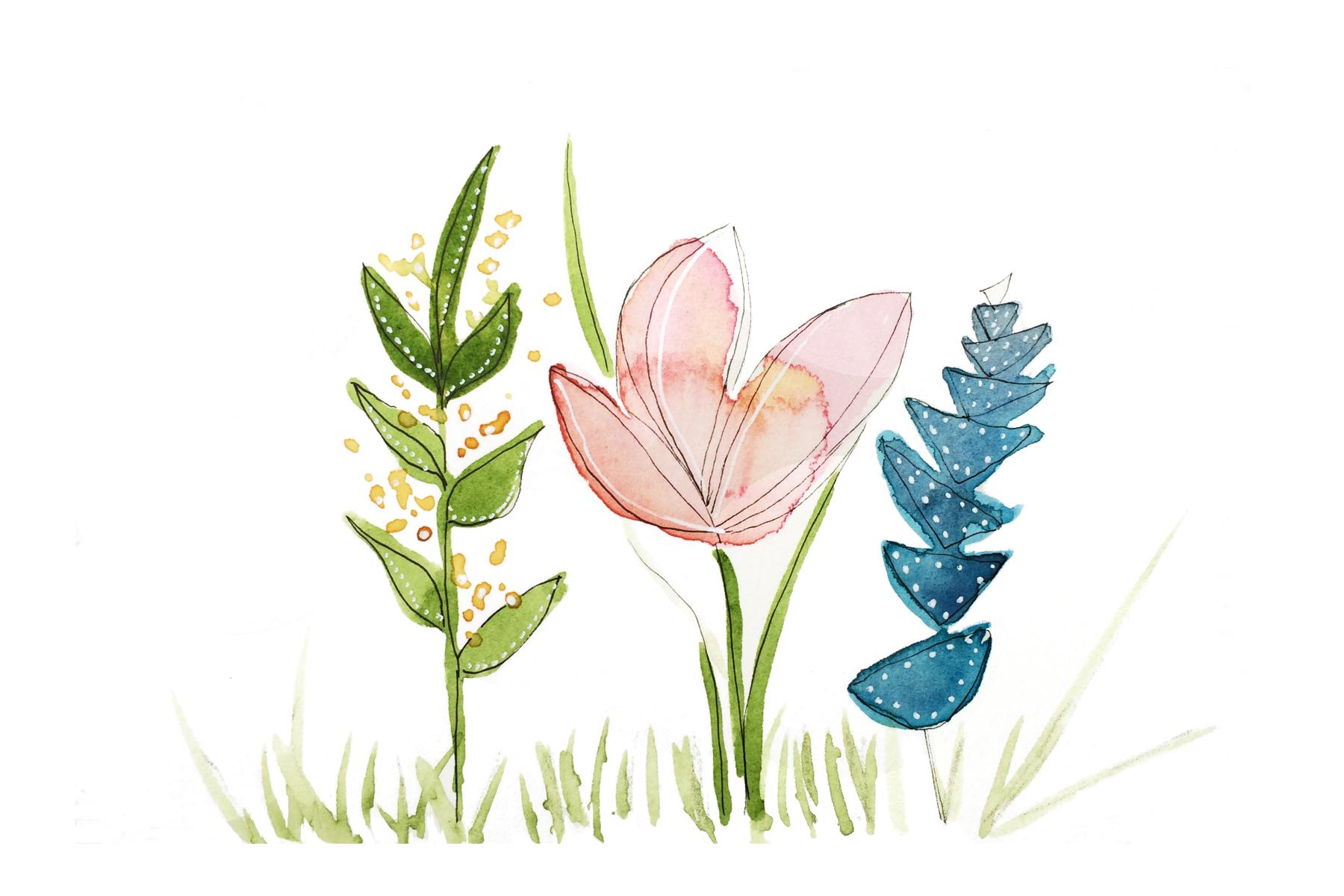 Flowers, Watercolor, 2015