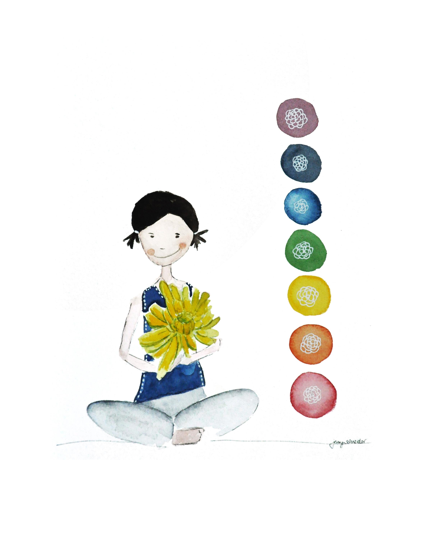 Chakra Girl :: Watercolor :: 2015