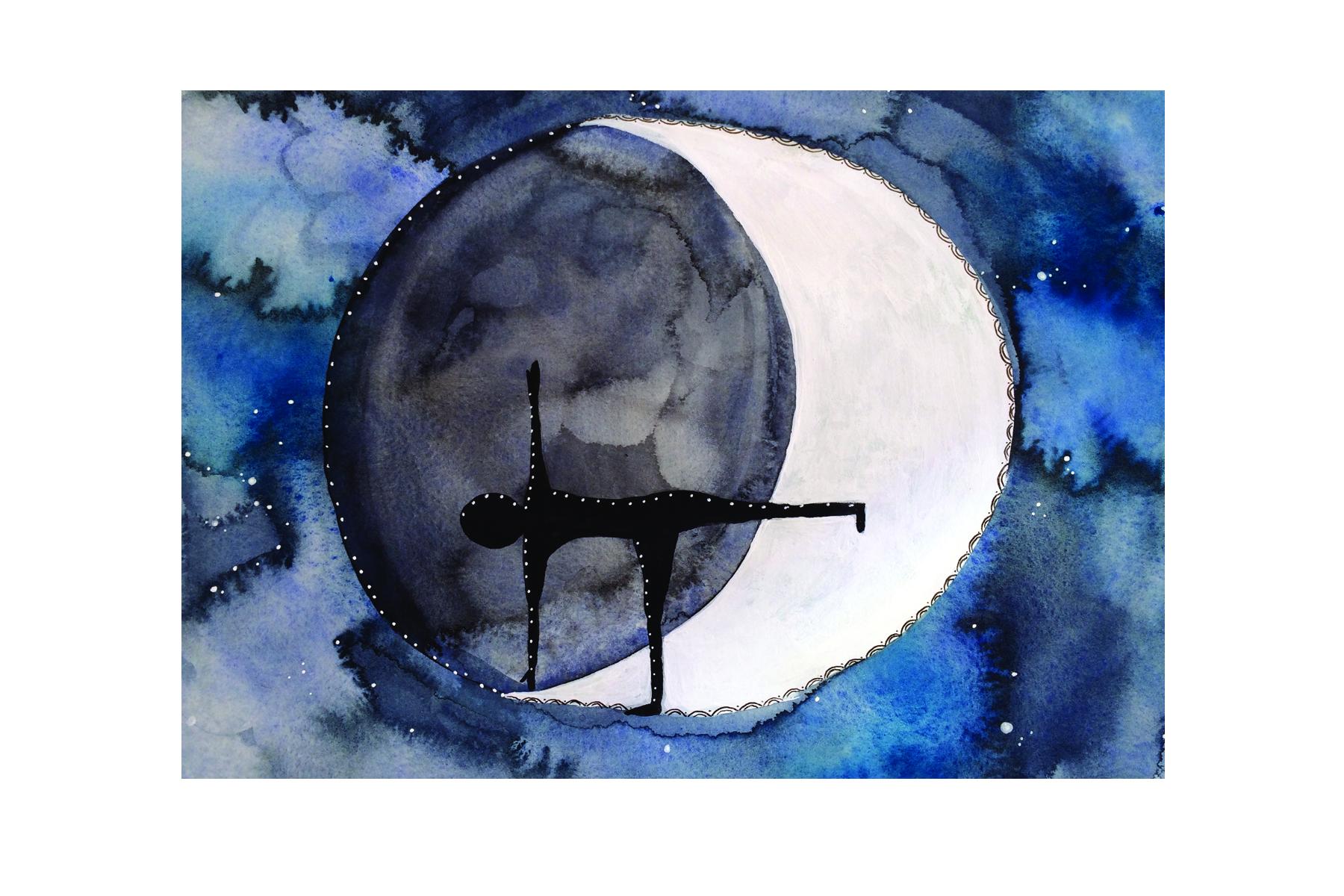 Half Moon, Mixed Media, 2016