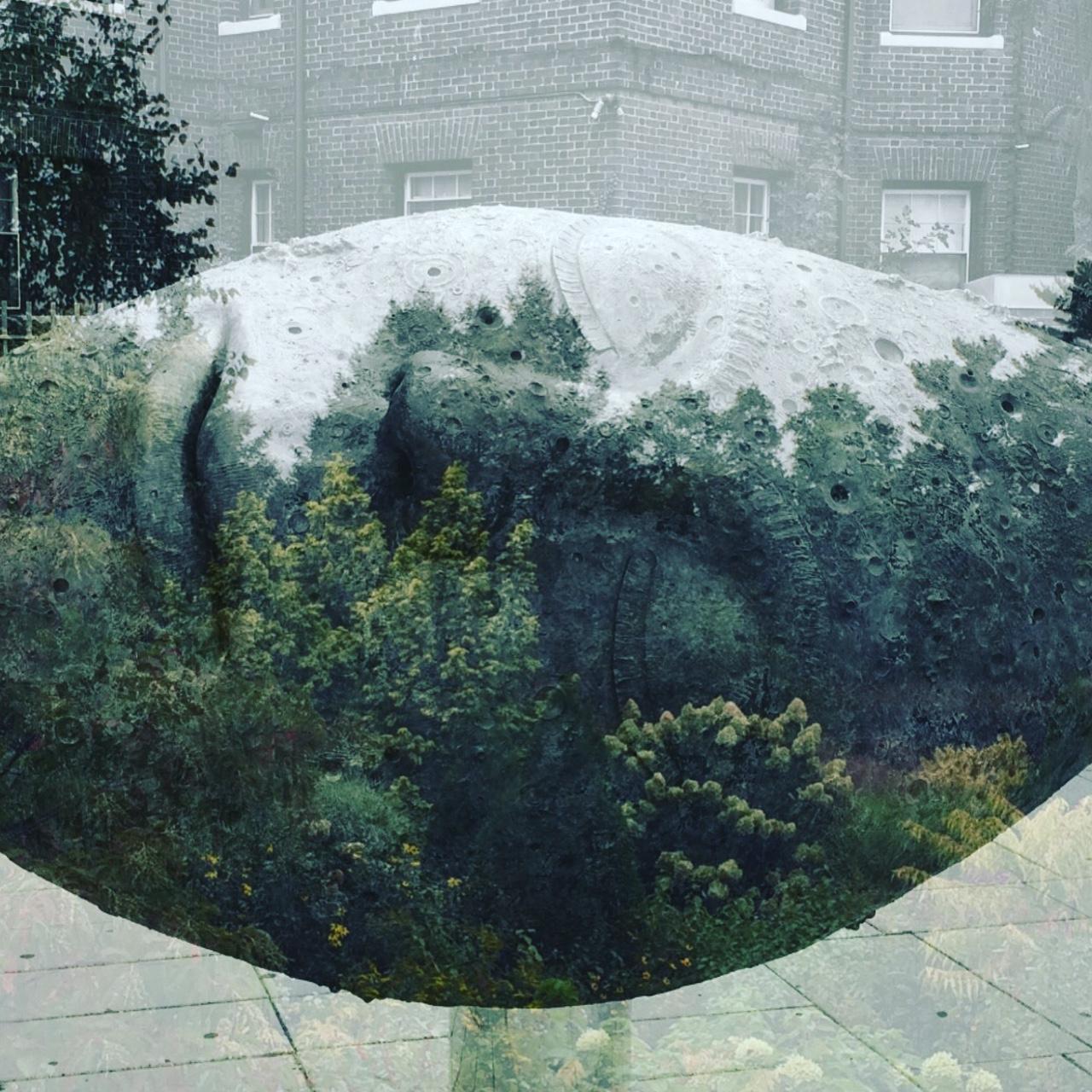 """sleeping moon"" in peabody square, boston"