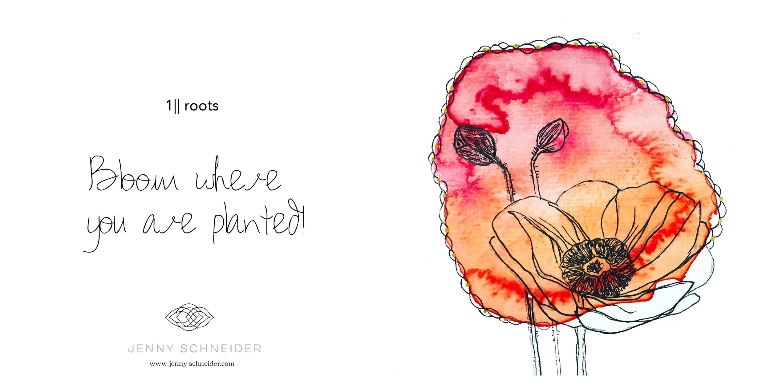 1|| Root || Poppyflower :: Watercolor & Ink