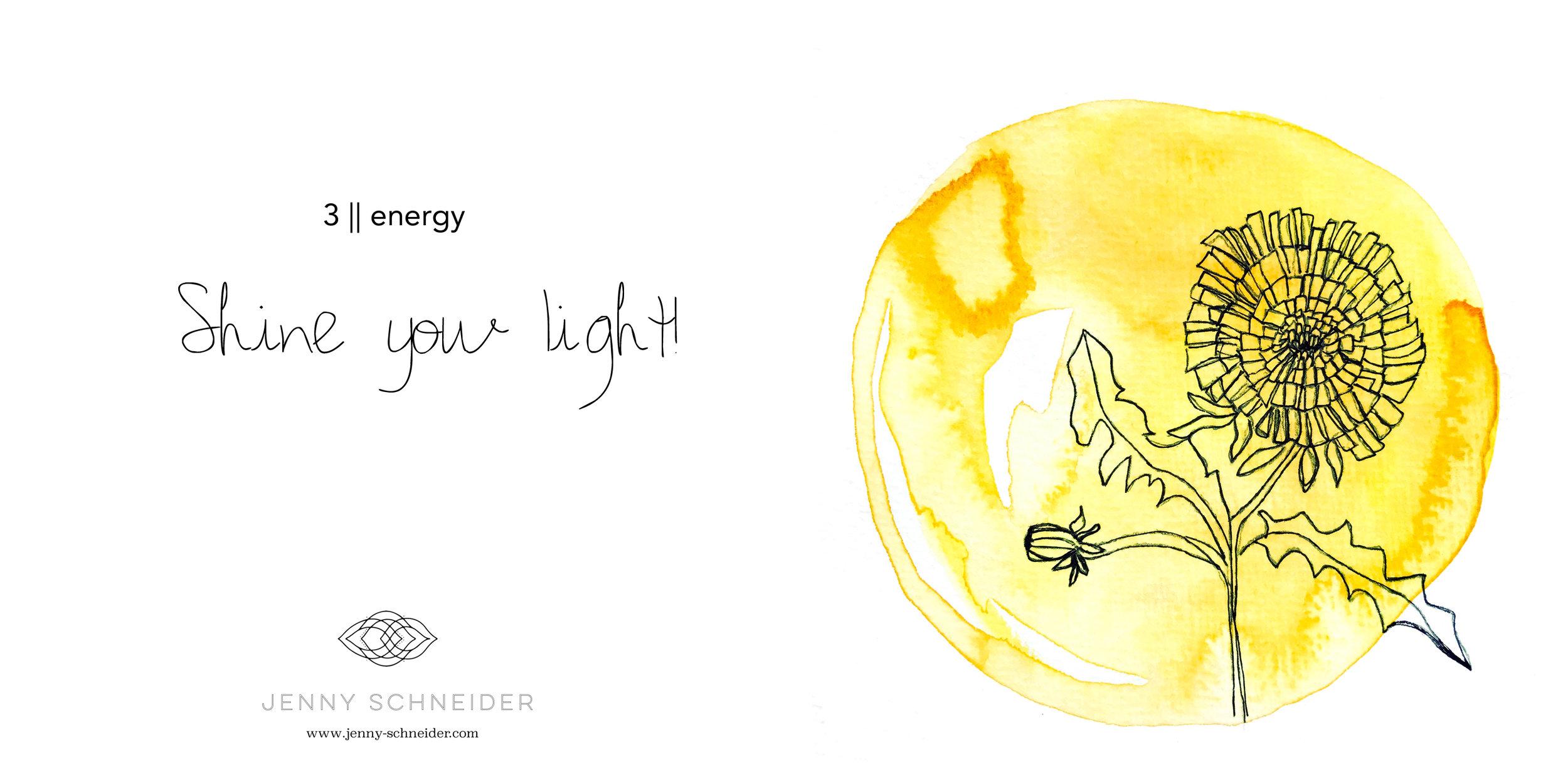 3    energy    Dandelion :: Watercolor and Ink :: 2017