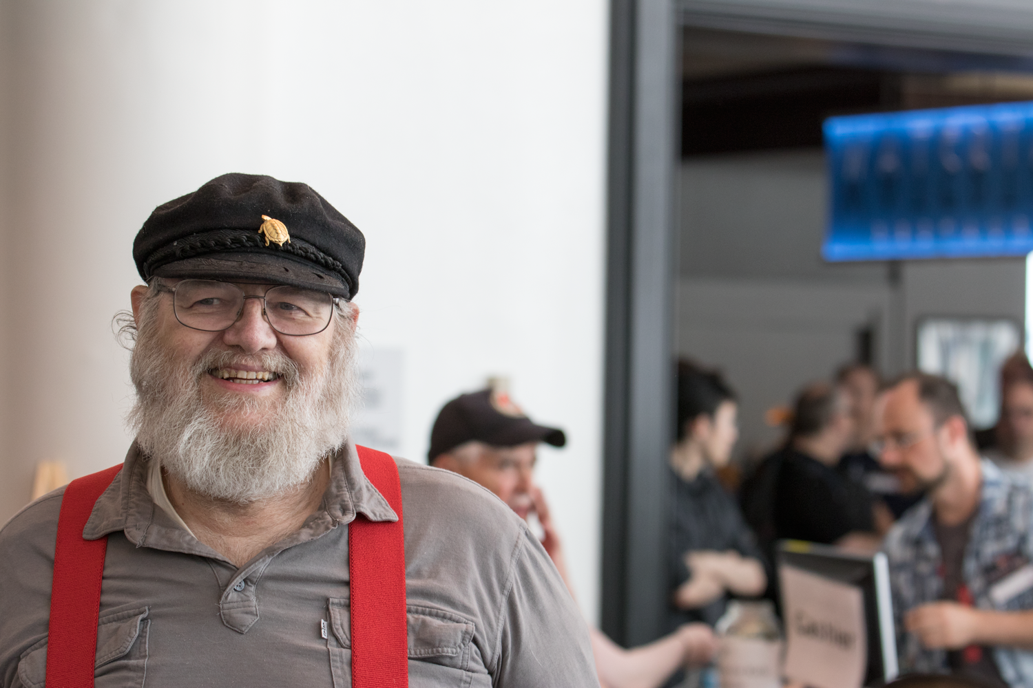 Ran into GRRM and gave him directions to registration, did not meet a grisly death. Probably my doom will come in book 6.