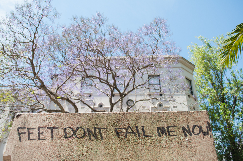 The motto for the next 15.000km... Sydney, Australia. October 2012