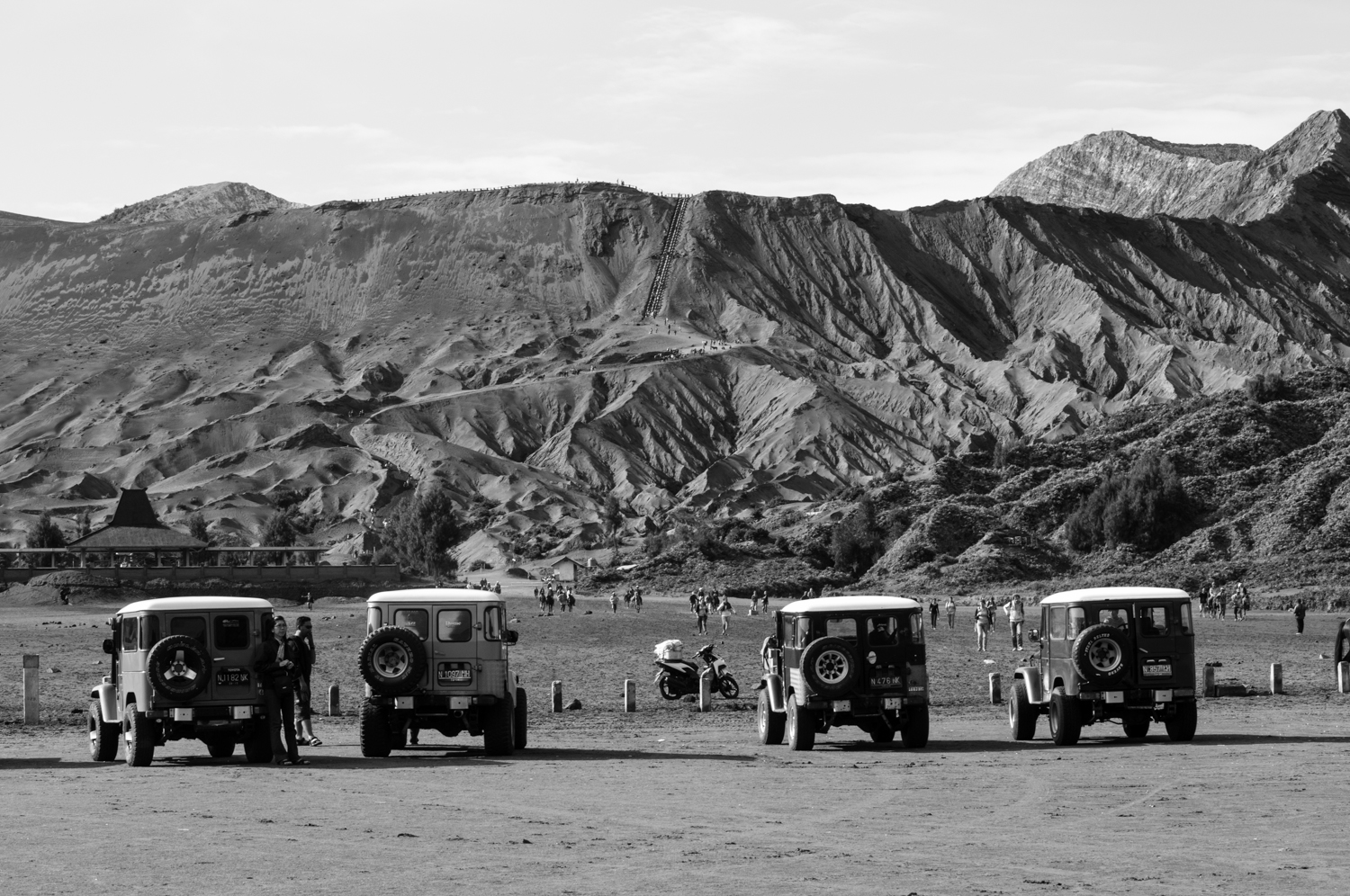 """""""You walk from here."""" Mount Bromo, Indonesia. December 2012"""