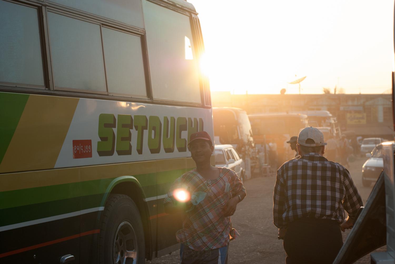 Bus to Bagan, Myanmar. January 2013