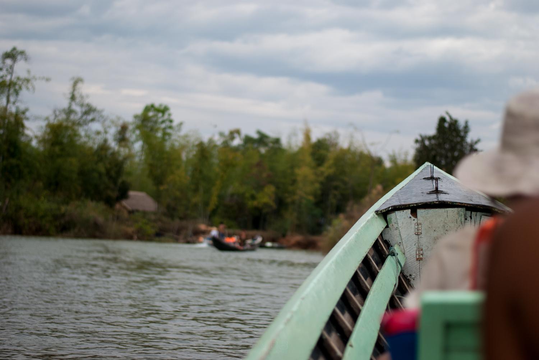 Floating to Inle Lake, Myanmar. February 2013