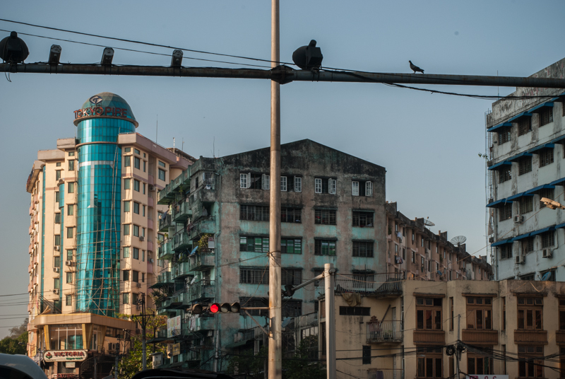 New and old in Yangon