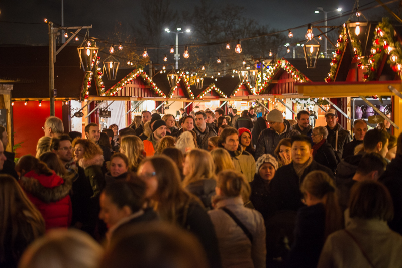 The little rows of stalls were packed with people on the opening night