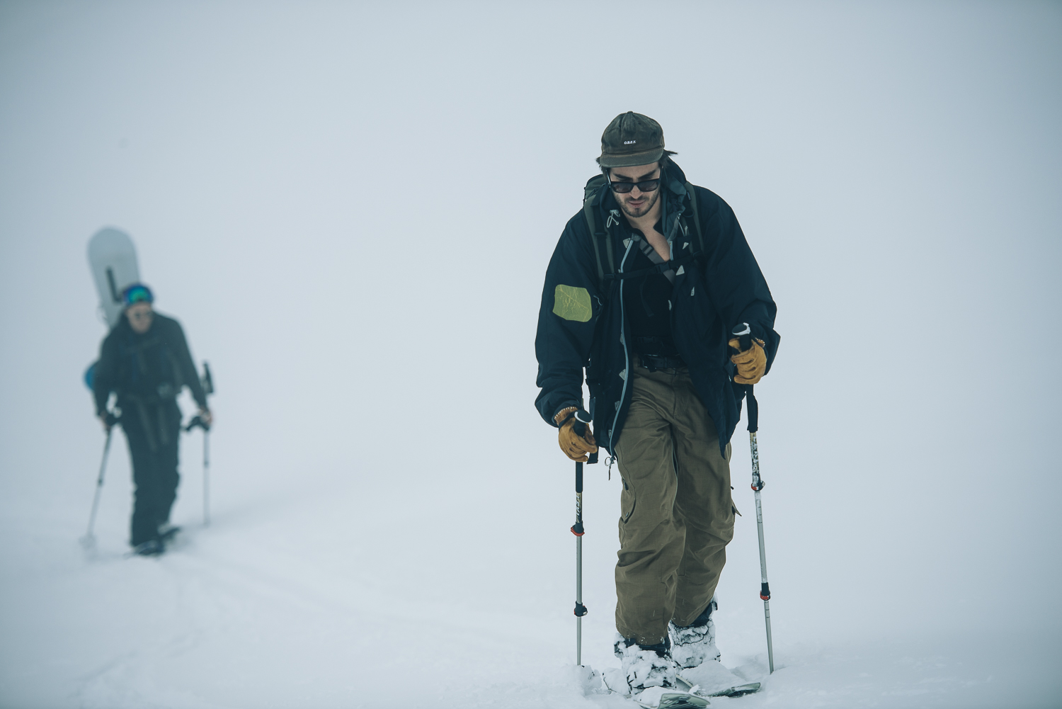 On the way up, visibility was still relatively far