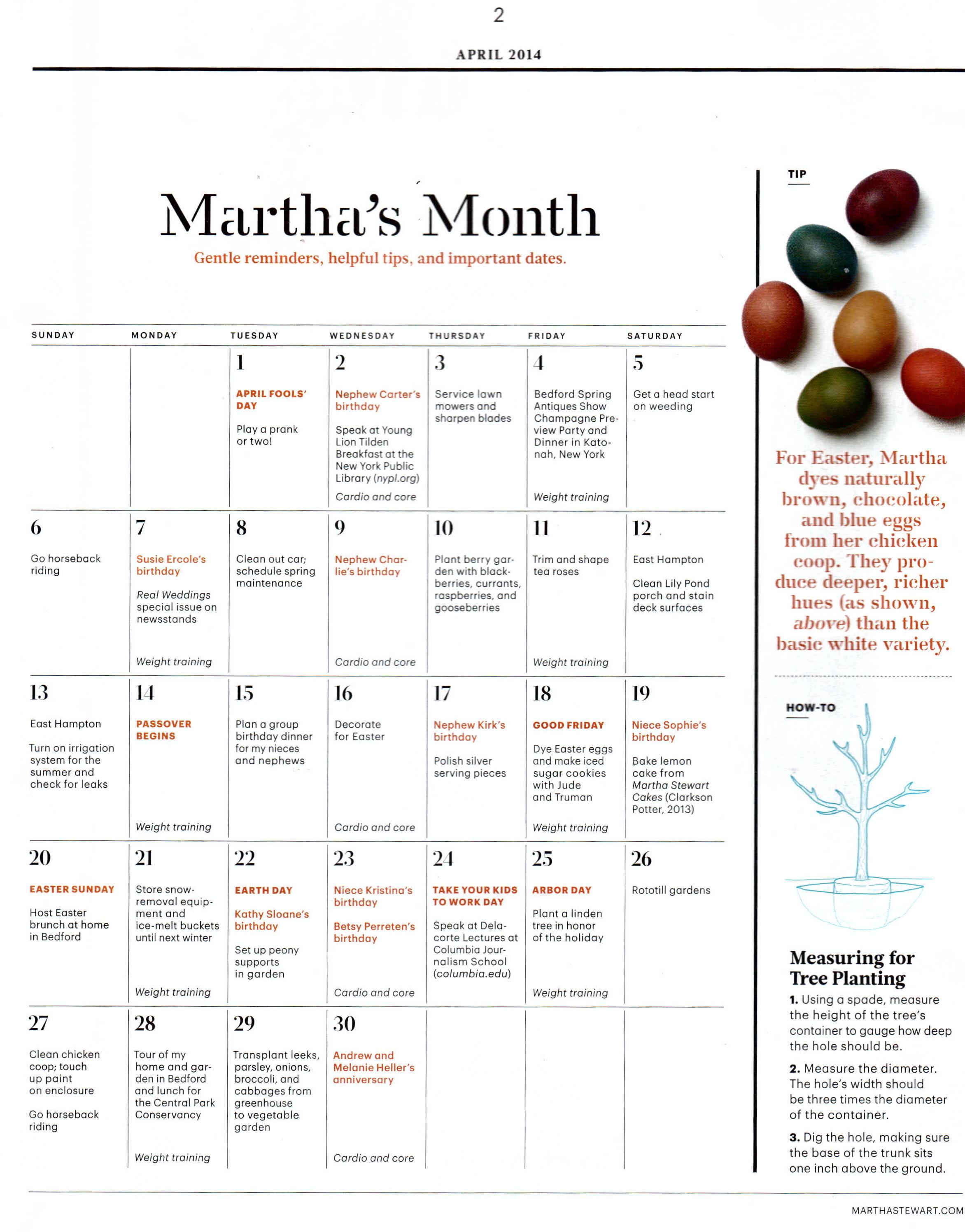 Martha Stewart Living, April 2014
