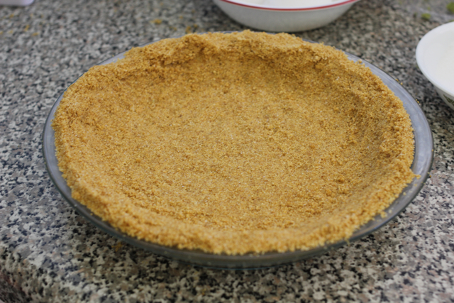 The crust before it goes in the oven