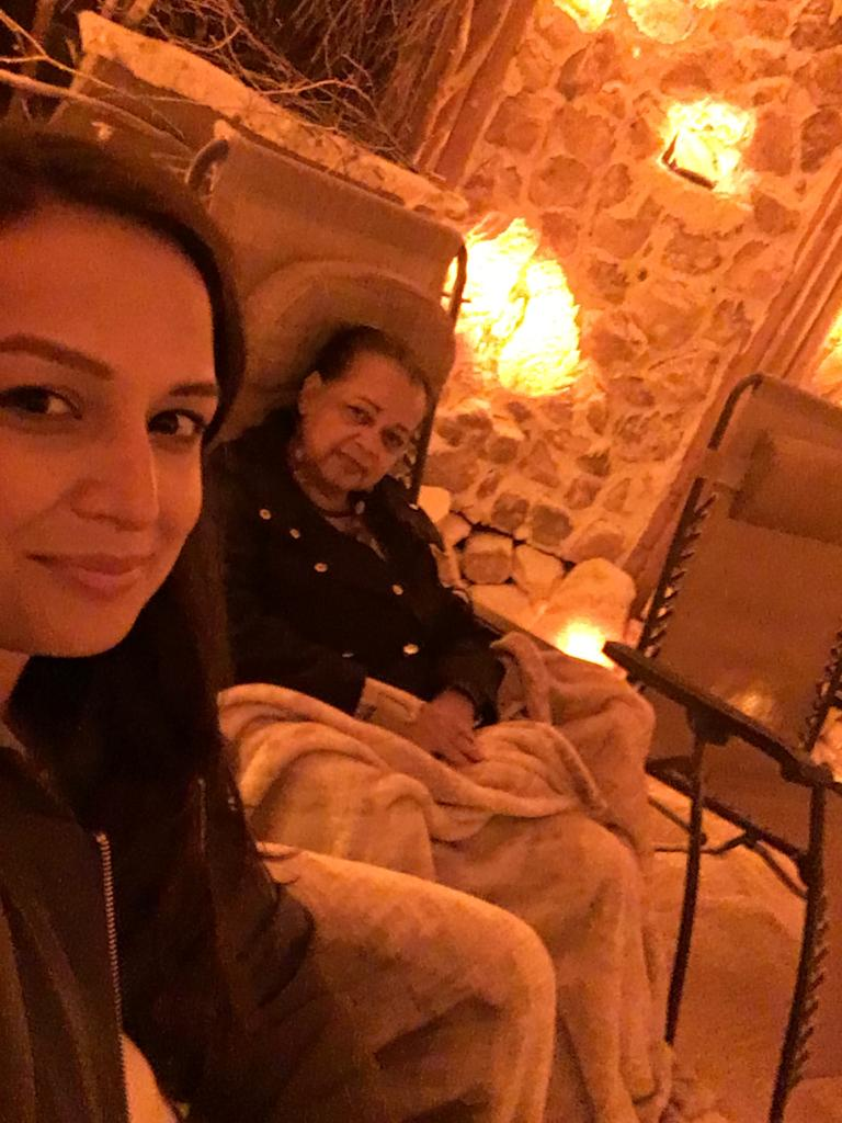 At the  Healing Salt Caves  with Mom