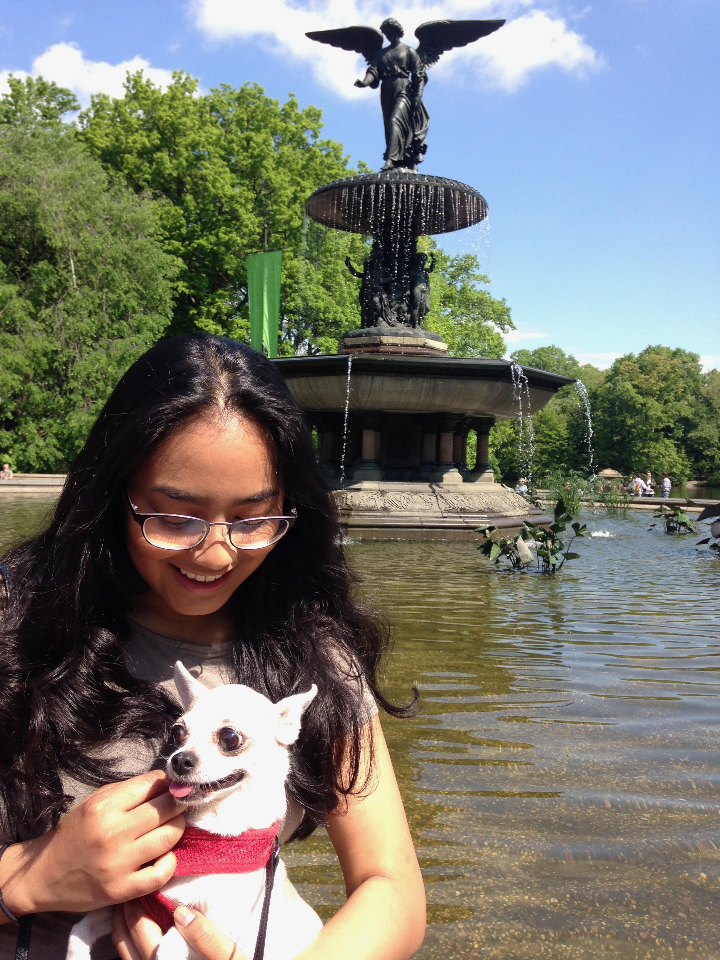 Tianna & Baby Dog, Central Park