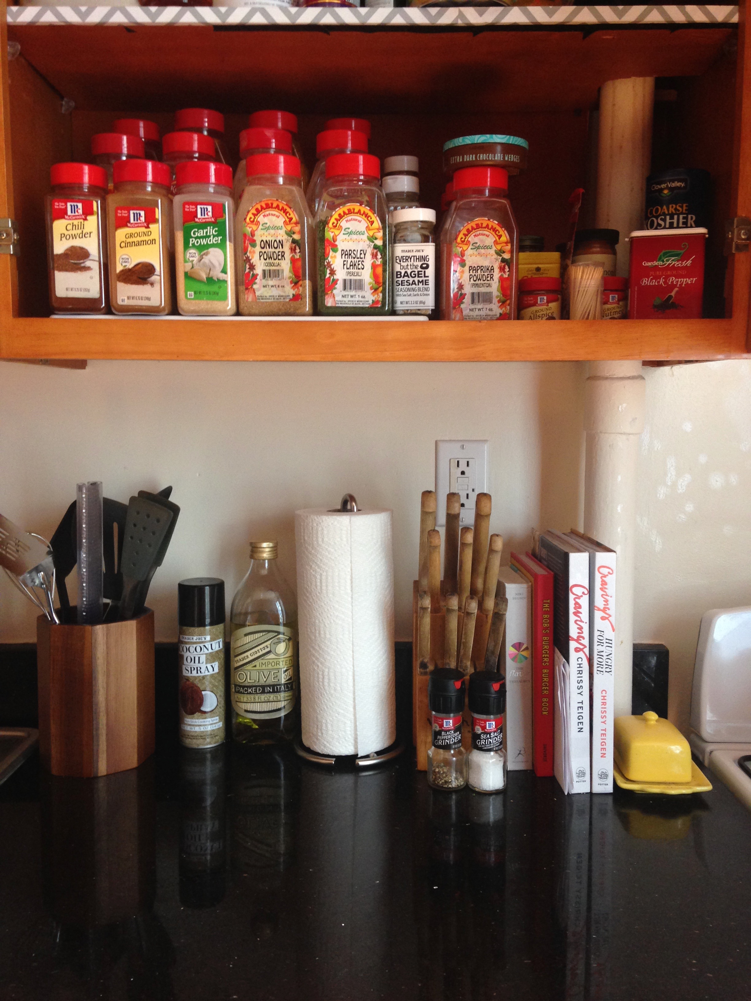 5. Spices & countertop