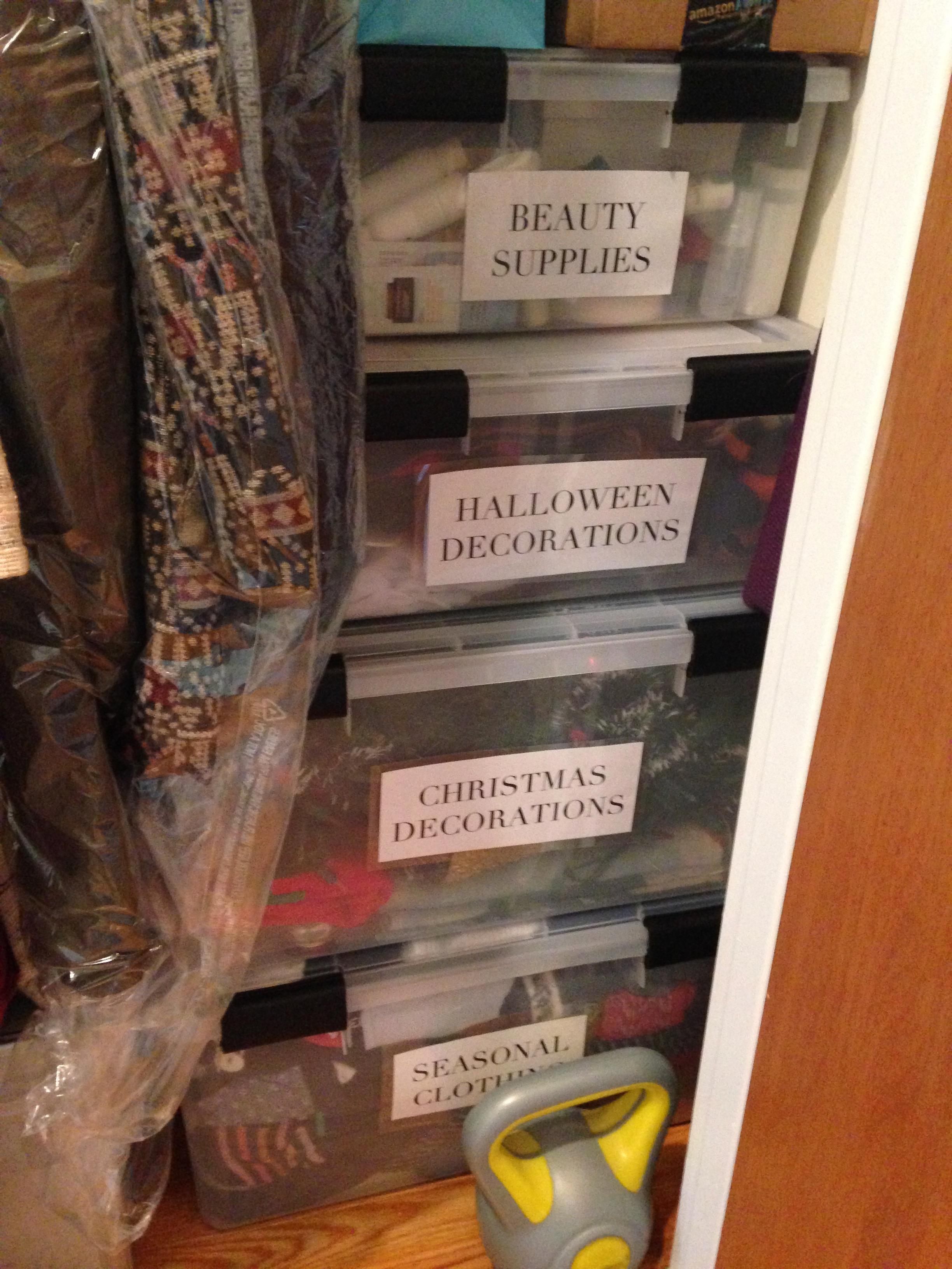 4. Closet storage