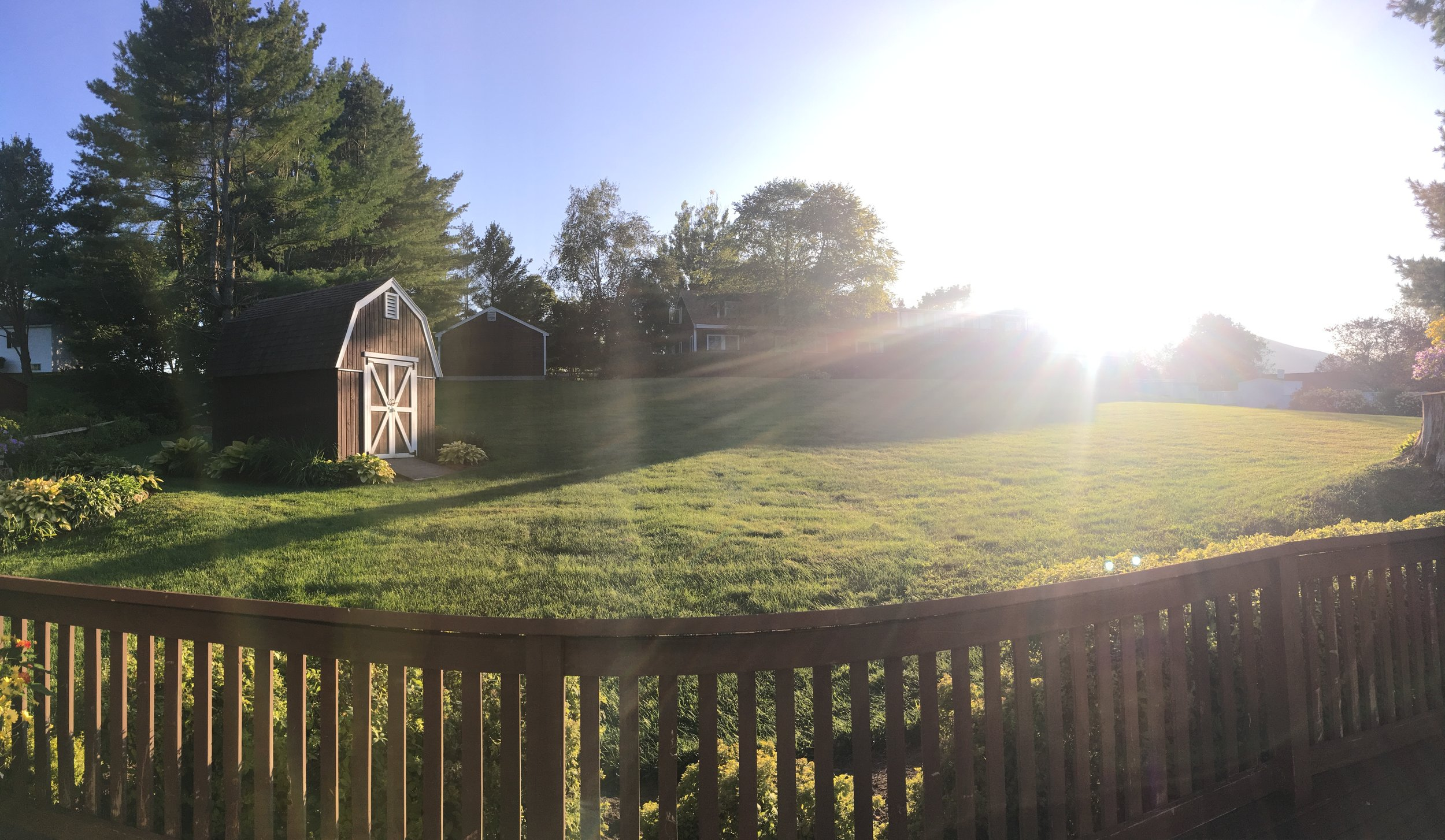 The view from our front porch