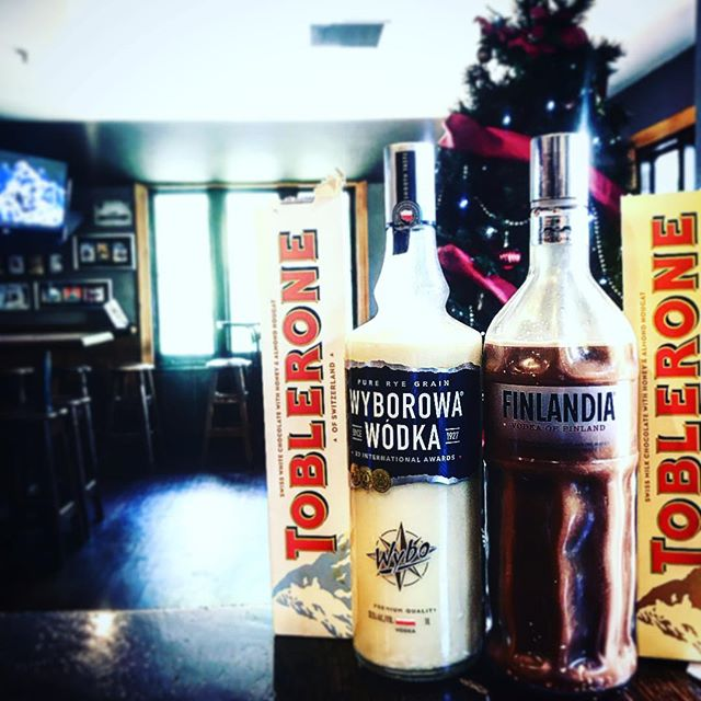 3 guesses what the flavours are of our New Year Vodka 😁🙃🍫🍫 #pegasusarms #christchurch #newzealand #pub #chocolate #toblerone #vodka #drinks #drink #bartender #bar #insta #pictures #picoftheday #pic #newyear #party #chocolate #cbd