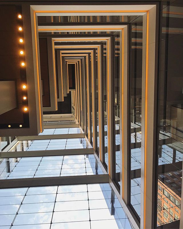 Look up⬆️🏙 #venue #coachheadquarters #architecture #nyc #vertigo #eventspace #newyork #coach #hudsonyards