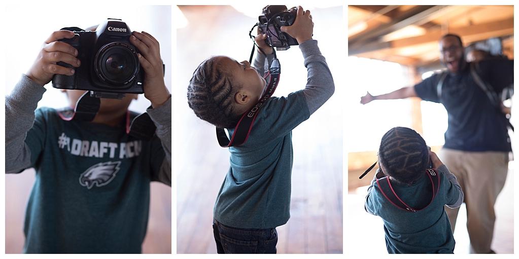 Our budding photographer!