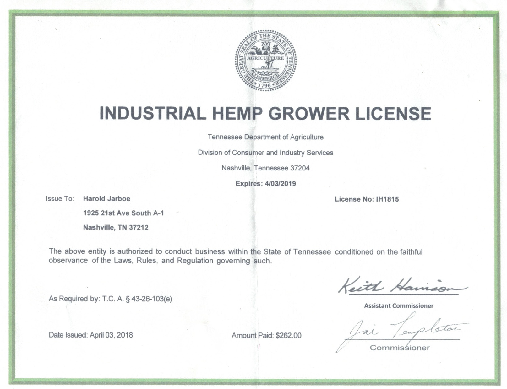 Hemo grower license.jpg