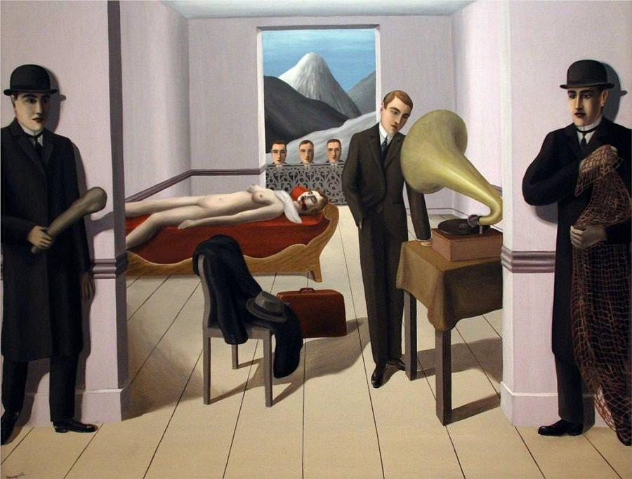 Rene Magritte,  The Threatened Assassin , 1926