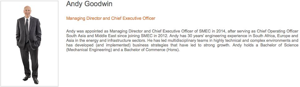 Andy Goodwin, CEO SMEC