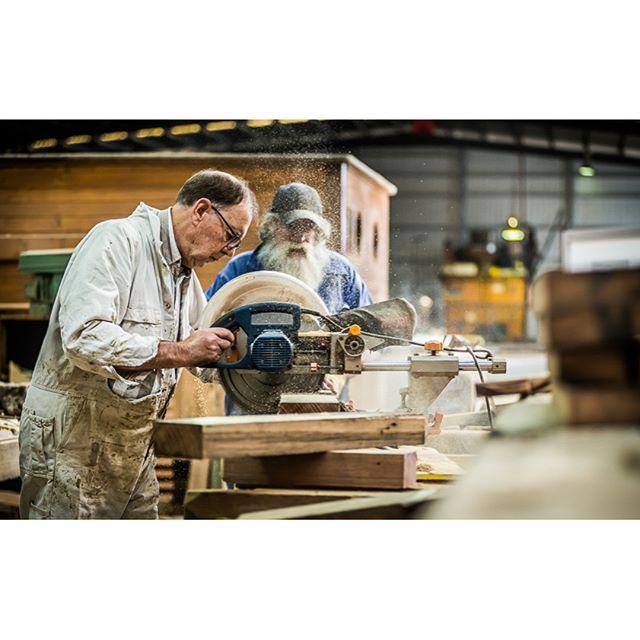 Alma Doeple Melbourne restoration volunteer team members hard at work.