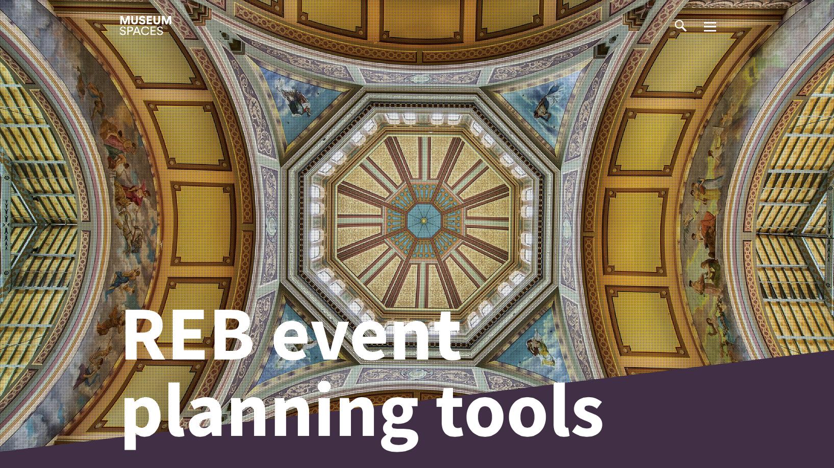 Royal Exhibition Building Event Spaces website